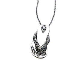 Roberto Coin 18K White Gold with Diamond Tiny Treasures Flip Flop Necklace
