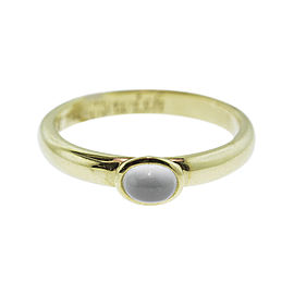 Monica Rich Kosann Yellow Gold Moonstone Posey Ring