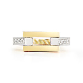 I.Reiss 14K Yellow Gold 0.07 Ring Size 7