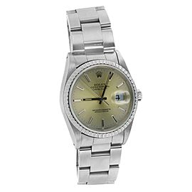 Rolex Datejust 36mm Silver Dial Steel Mens Watch
