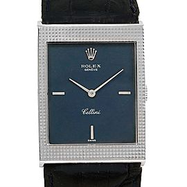 Rolex Cellini 4127 18K White Gold Vintage Manual 24mm Mens Watch