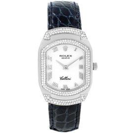 Rolex Cellini Cellissima 6693 18K White Gold with 222 Diamonds Quartz 25mm Womens Watch