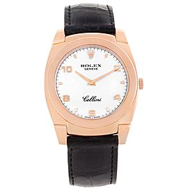 Rolex Cellini Cestello 5330 18K Rose Gold & Leather Manual 36.0mm Mens Watch