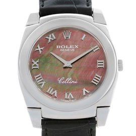 Rolex Cellini Cestello 5330 18K White Gold Mother Of Pearl Dial 36mm Mens Watch