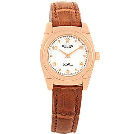 Rolex Cellini Cestello 5310 18K Rose Gold Quartz 26mm Womens Watch