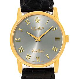 Rolex Cellini Classic 5116 18K Yellow Gold Slate Dial 31.8mm Unisex Watch