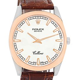 Rolex Cellini Danaos 4243 18K White and Rose Gold 38mm Mens Watch