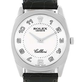 Rolex Cellini Danaos 4233 18K White Gold 34mm Mens Watch