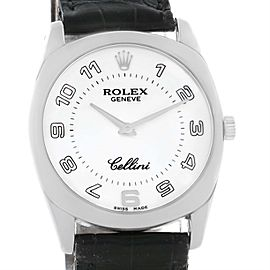 Rolex Cellini Danaos 4233 18K White Gold 34mm Mens Watch