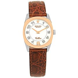 Rolex Cellini Danaos 6229 18K White & Rose Gold White Dial 26.5mm Womens Watch