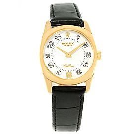 Rolex Cellini Danaos 6229 18K Yellow Gold & White Dial 26.5mm Womens Watch