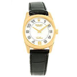 Rolex Cellini Danaos 6229 18K Yellow Gold & White Dial 26.5mm Womens Watch