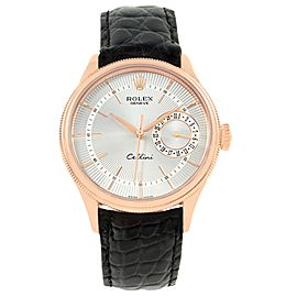 Rolex Cellini 50515 18K Rose Gold & Silver Dial Automatic 39mm Mens Watch