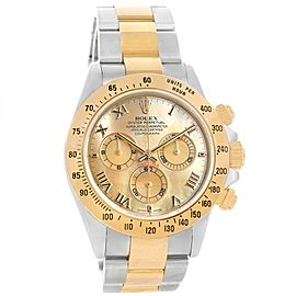 Rolex Cosmograph Daytona 116523 18K Yellow Gold and Stainless Steel Mother of Pearl 40mm Automatic Mens Watch