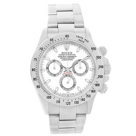 Rolex Cosmograph Daytona 116520 Stainless Steel & White Dial 40mm Mens Watch