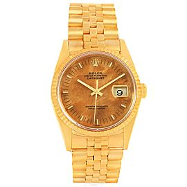 Rolex Date 16238 18K Yellow Gold Automatic 34mm Mens Watch