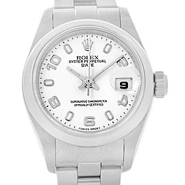Rolex Date 79160 Stainless Steel White Dial 25mm Womens Watch