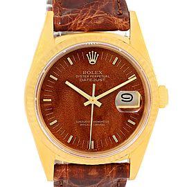 Rolex Datejust 16018 18K Yellow Gold 34mm Mens Watch