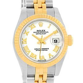 Rolex Datejust 179173 Stainless Steel & 18K Yellow Gold White Dial 26mm Womens Watch