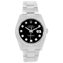 Rolex Datejust 116244 Stainless Steel with Diamond Automatic 36mm Unisex Watch
