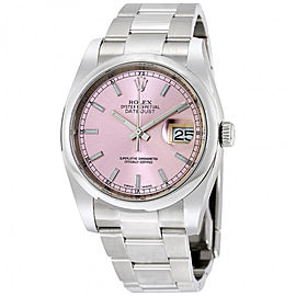 Rolex Datejust 36 Pink Dial Stainless Steel Oyster Automatic Men's Watch