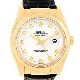 Rolex Datejust 116138 18K Yellow Gold & White Diamond Dial 36mm Unisex Watch