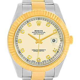 Rolex Datejust II 116333 Stainless Steel and 18K Yellow Gold 41mm Mens Watch