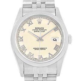 Rolex Datejust 16200 Stainless Steel 36mm Mens Watch