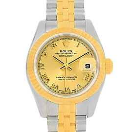 Rolex Datejust 179173 Stainless Steel and 18K Yellow Gold 26mm Womens Watch