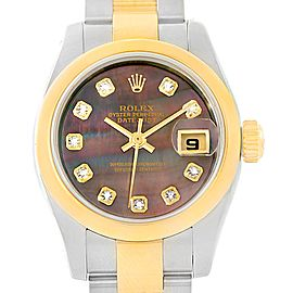 Rolex Datejust 179163 Stainless Steel and 18K Yellow Gold 26mm Womens Watch