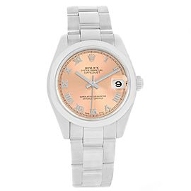 Rolex Datejust 178240 Stainless Steel Salmon Roman Dial Automatic 31mm Womens Watch