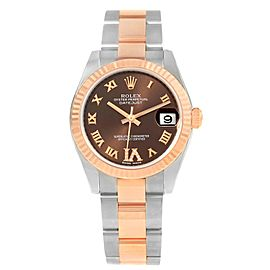 Rolex Datejust 178271 Stainless Steel / 18K Rose Gold wDiamond Automatic 31mm Womens Watch