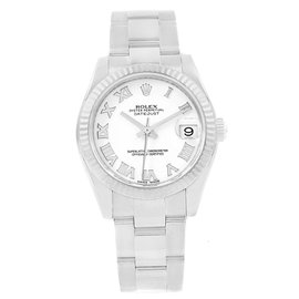 Rolex Datejust 178274 Stainless Steel & White Roman Dial 31mm Womens Watch
