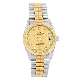 Rolex Datejust President Tridor 68279 18K Pink, Yellow, White Gold 31mm Unisex Watch
