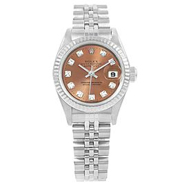 Rolex Datejust 79174 Stainless Steel Salmon Diamond Dial Automatic 26mm Womens Watch