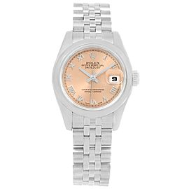 Rolex Datejust 179160 Stainless Steel Salmon Roman Dial 26mm Womens Watch