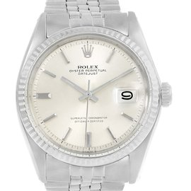 Rolex Datejust 1601 Stainless Steel & Silver Dial Vintage 34mm Mens Watch