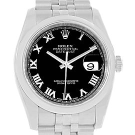 Rolex Datejust 116200 Stainless Steel With Black Dial 36mm Mens Watch