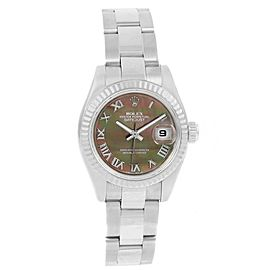 Rolex Datejust 179174 Stainless Steel & 18K White Gold Mother of Pearl Diamond Dial Automatic 26mm Womens Watch