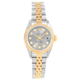 Rolex Datejust 79173 Stainless Steel and 18K Yellow Gold Diamond 26mm Automatic Women Watch