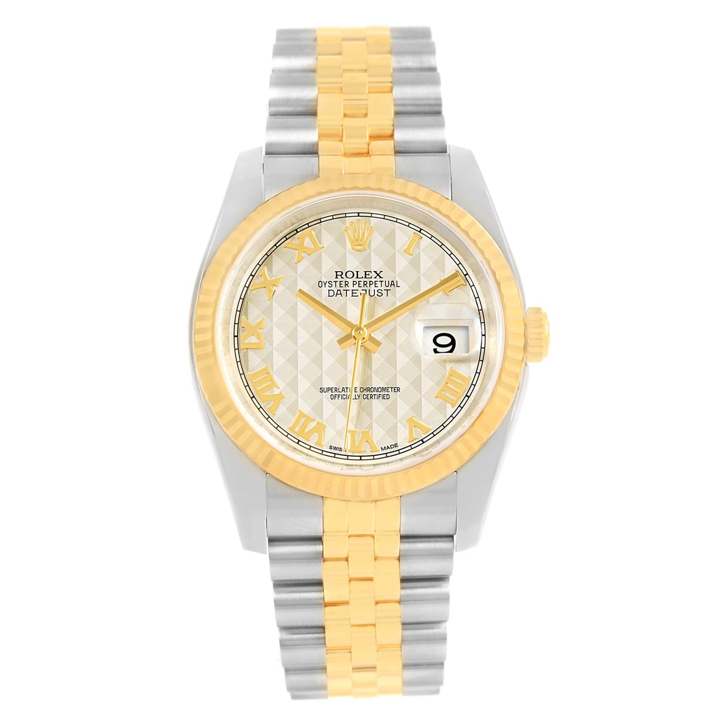 37a66759d9ac1 Rolex Datejust 116233 Stainless Steel   18K Yellow Gold 36mm Mens Watch