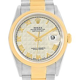 Rolex Datejust 16203 Stainless Steel and 18K Yellow Gold 36mm Womens Watch