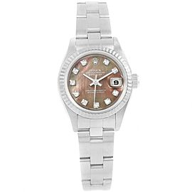 Rolex Datejust 79174 Stainless Steel and 18K White Gold Tahitian Mother of Pearl 26mm Automatic Women Watch
