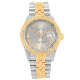 Rolex Datejust Turnograph 16263 Stainless Steel and 18K Yellow Gold 36mm Automatic Mens Watch
