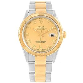 Rolex Datejust 16263 Stainless Steel and 18K Yellow Gold with Champagne Dial 36mm Mens Watch