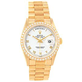 Rolex Day-Date President 18248 18K Yellow Gold Diamond 36mm Automatic Mens Watch