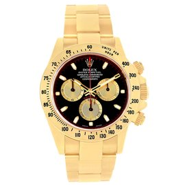Rolex Cosmograph Daytona 116528 18K Yellow Gold & Black Dial 40mm Mens Watch