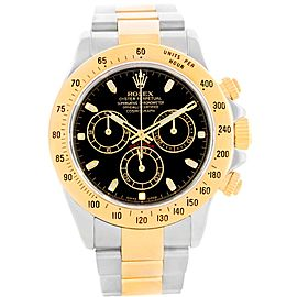 Rolex Daytona 116523 18K Yellow Gold with Black Dial 40mm Mens Watch