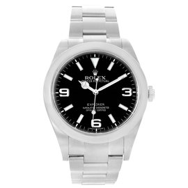 Rolex Explorer I 214270 Stainless Steel & Black Dial 39mm Mens Watch