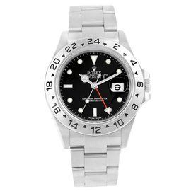 Rolex Explorer II 16570 Stainless Steel Black Dial 40mm Mens Watch